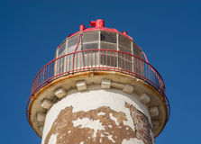 Disused lighthouse. A disused lighthouse photographed against a clear blue sky Royalty Free Stock Photos