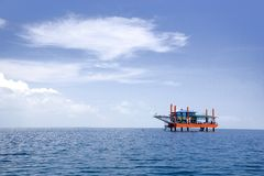 Disused Oil Rig. Image of a disused oil rig in Malaysia Royalty Free Stock Photo