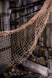 Disused old fishing nets. Stock Image