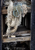 Disused old fishing nets. Stock Photography