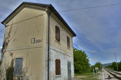 Disused Rail Building Between Moimacco and Cividale del Friuli Royalty Free Stock Photo