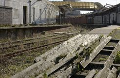 Disused railway station at Folkestone harbour. England Royalty Free Stock Photography