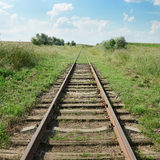 Disused railway track Royalty Free Stock Image