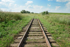 Disused railway track Royalty Free Stock Images
