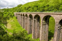 Disused railway viaduct in Smardale. Royalty Free Stock Photo