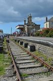 Disused station at west bay. The Disused station at West Bay, Dorset on the Jurassic coast Stock Photo