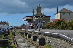 Disused station at west bay. The Disused station at West Bay, Dorset on the Jurassic coast Royalty Free Stock Image