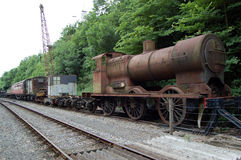 Disused Steam Train and Carriage Stock Image