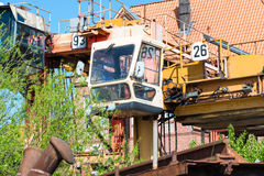 Disused Straddle Carrier in the Port Museum Hamburg Royalty Free Stock Photos