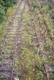 Disused tracks. View of disused section of tracks from above Royalty Free Stock Images