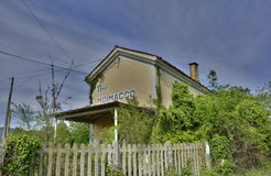 Disused Train Station in Moimacco Royalty Free Stock Image