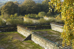 Disused water treatment works Stock Image