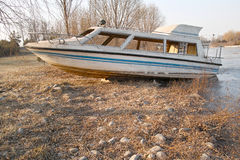 Disused yacht Stock Photo