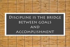 Disziplin-Plakat Stockfotografie
