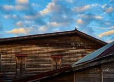 Dit beeld is over oud huis, Thailand Stock Foto's
