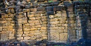 Dit beeld is over rotsmuur, Thailand Stock Foto