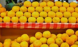 Dit beeld is over sinaasappel in markt, Thailand Royalty-vrije Stock Afbeeldingen