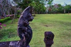 Dit beeld is over standbeeldnaga, Thailand Stock Afbeelding