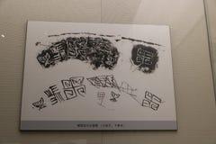 Dit is de Chinese archeologische lei van Oracle royalty-vrije stock afbeelding