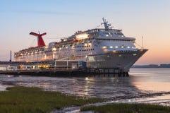 De Haven van Sc van Charleston van het Schip van de cruise Royalty-vrije Stock Afbeeldingen