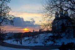 Dit is de Kerk van Catherine ` s Het beeld werd genomen in de oude stad Royalty-vrije Stock Foto's
