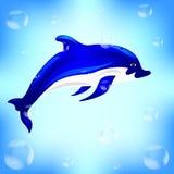 Dit is Dolfijn op een witte achtergrond royalty-vrije illustratie