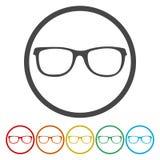 Dit is dossier van EPS10-formaat Glazen vlak symbool vector illustratie
