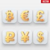 Dit is dossier van EPS10-formaat Symbool van Gouden Dollar Royalty-vrije Stock Foto's