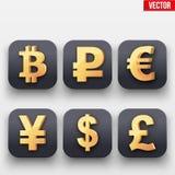 Dit is dossier van EPS10-formaat Symbool van Gouden Dollar Royalty-vrije Stock Afbeelding