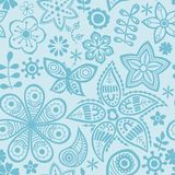 Dit is dossier van EPS8 formaat Zwart-witte naadloze botanische textuur stock illustratie