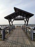 Dit is een het luisteren Paviljoen dichtbij Shengze Dang Lake stock afbeelding
