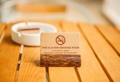 Dit is een non-smoking ruimte Stock Fotografie
