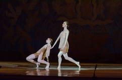 Dit eeuwige balletverhaal Stock Foto's