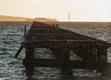 Dit het eind van het einde van lijnberkeley pier stock illustratie