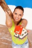 Dit huis is voor u! Stock Foto