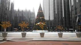 Dit Kerstmisbeeld was neemt in Pittsburgh royalty-vrije stock afbeelding