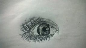 dit is mijn eigen oog ⠝ ¤â ¤ van de potloodkunst stock fotografie