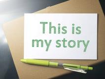 Dit is mijn Verhaal, Motieven Inspirational Citaten royalty-vrije stock foto