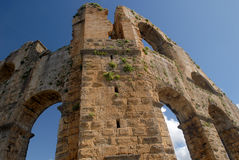 Oud roman aquaduct Stock Foto
