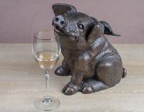 Dit Piggy is geen engel! royalty-vrije stock foto's