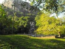 DIT IS VESTING VAN DE BEELD DE MOOIE YAPAHUWA ROTS VAN SRI LANKA royalty-vrije stock foto