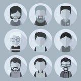 Dit wordt geplaatst van beeldverhaalkarakters van mensen Voor avatars Royalty-vrije Stock Afbeeldingen