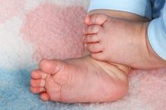 Dita del piede del bambino Fotografie Stock Libere da Diritti