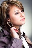 Dita in miei capelli Fotografie Stock