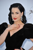 Dita Von Teese. At amfAR's 20th Cinema Against AIDS Gala at the Hotel du Cap d'Antibes, France May 23, 2013  Antibes, France Picture: Paul Smith / Featureflash Royalty Free Stock Photo