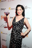 Dita Von Teese appearing live. Stock Images