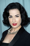 Dita Von Teese, Karl Lagerfeld Royalty Free Stock Photography