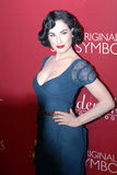 Dita Von Teese on the red carpet. Dita Von Teese arriving on the red carpet Royalty Free Stock Photography