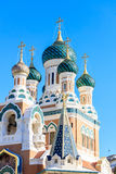 Ditail of Russian Orthodox Cathedral in Nice. France Stock Photography
