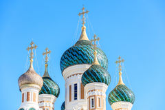 Ditail of Russian Orthodox Cathedral in Nice. France Royalty Free Stock Image